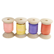 2.5cm Wide Silk Ribbon, 3 Yards Each on Wooden Spool, Hand Dyed in the USA