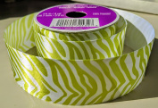 Green Zebra Pattern Celebrate It 3.8cm . X 3.7m 100% Polyester Ribbon - Great for Any Occasion!