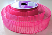 Pink Lined Sheen Pattern Celebrate It 2.5cm . X 3.7m 100% Polyester Ribbon - Great for Any Occasion!
