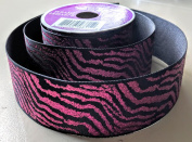 Dark Pink Zebra Pattern Celebrate It 3.8cm . X 2.7m 100% Polyester Ribbon - Great for Any Occasion!