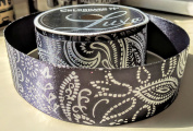 Black Tribal Pattern Celebrate It 3.8cm . X 2.7m 100% Polyester Ribbon - Great for Any Occasion!