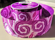 Purple Retro Pattern Celebrate It 3.8cm . X 3.7m 100% Polyester Ribbon - Great for Any Occasion!