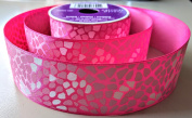 Pink with White Dot Pattern Celebrate It 3.8cm . X 3.7m 100% Polyester Ribbon - Great for Any Occasion!