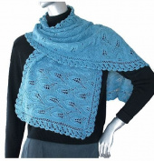 Grape Vines - Jojoland Knitting Pattern - Lace Wrap Design by Lijuan Jing