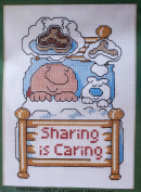 Ziggy Counted Cross Stitch - SHARING - 18cm X 13cm #0129
