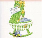 boy baby certificate Cradle counted cross stitch, DMC cotton thread , 14ct 27*37cm 90*140 stitch counted cross stitch kits