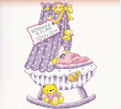 girl baby certificate Cradle counted cross stitch, DMC cotton thread , 14ct 27*37cm 90*140 stitch counted cross stitch kits