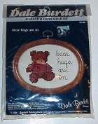 """Bear Hugs Are In"" Small Cross Stitch Kit"