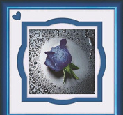 World Dragon Cross Stitch, Lovely Blue Rose