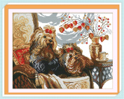 RUIMI Beginner 11CT Cross Stitch Set Embroidery Animal Cute Dog 61x48cm