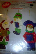 Christmas Carolers Plastic Canvas Ornaments Kit Makes 3