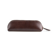 UART Vintage Handmade Genuine Leather Student Pen Pencil Case Coin Purse Pouch Cosmetic Makeup Bag