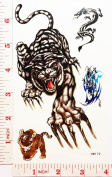 tiger Temporary Waterproof Tattoo Art Body Stickers Removable Fashion Henna Tattoo Inspired Sticker Gifts by Magic movement