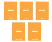 Pack of 5 Rhodia Orange Dot Pad 6X8.25