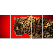 Digital Art PT2332-401 Spotted You Red Large Animal Canvas Art