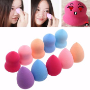 A-store 10pcs Pro Beauty Flawless Makeup Blender Foundation Puff Multi Shape Sponges