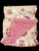 Elements of Style Ultra Soft Double Sided Baby Blanket, Pink Owl