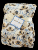 Cutie Pie Plush Ultra Soft 80cm x 90cm Baby Blanket, Puppy Faces