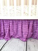 Lilac Purple Ruffle Crib Skirt Baby Bedding Nursery Baby Girl