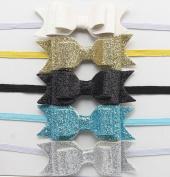 Ascentan(TM)Newborn Baby Girls Flower Headbands Korean Bowknot Baby Hairband GirlsHair Accessories 9 Colours Princess Hair Bow Diademas Pelo