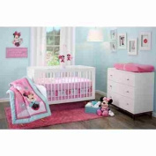 Disney Minnie Mouse Happy Day 3-Piece Adorable Crib Bedding Set