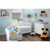 Disney Let's Go Mickey Mouse Adorable 3-Piece Crib Bedding Set