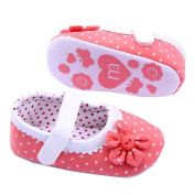 Franterd Baby Girls Soft Sole Toddler Shoes Summer PU Leather Crib Shoes