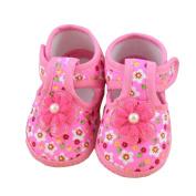 Franterd Baby Soft Crib Shoes Flower Boots Prewalker