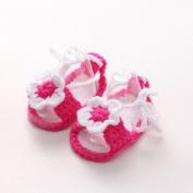Franterd Infant Shoes Crib Crochet Baby Girls Handmade Flower Knit Sock