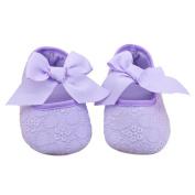 Franterd Infant Girls Prewalker Ribbon Bowknot Soft Bottom Shoes