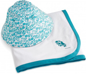 Coolibar UPF 50+ Baby Cotton Cap & Sun Blanket Set - Sun Protective