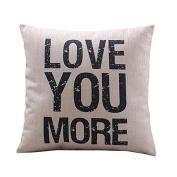 SMTSMT Cotton Linen Cushion Throw Pillow Covers Pillowslip Case