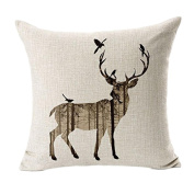 SMTSMT Deer Sofa Bed Home Decor Pillow Case Cushion Cover