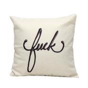 SMTSMT Letters Sofa Bed Home Decoration Festival Pillow Case Cushion Cover