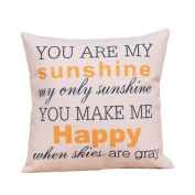 SMTSMT Home Cotton Linen Leaning Cushion Throw Pillow Covers Pillowslip Case