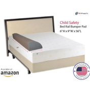 Child Bed Safety Guard Rail Bumper Pad for Toddler Safety, 15cm H x 23cm W x 140cm L