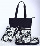 QUILTED COTTON MICROFIBER nappy BAG BABY BAG MON BAG WITH BOW colour OPTIONAL