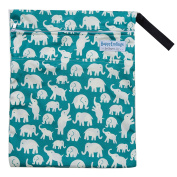 "Wet / Dry Bag for Cloth Nappies or Laundry ""Elephants"""