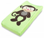 Plush Pals Changing Pad Cover, Green/Brown, Monkey, Baby Nappy
