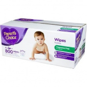 Parent's Choice 800 sheets Quilted soft & Fragrance Free Baby Wipes