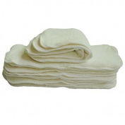 Lazzaa Cloth Nappy 4 layers Antibacterial Bamboo Viscose Inserts Super Water Absorbent 10pcs