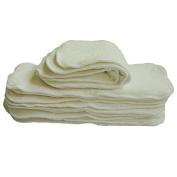 Lazzaa Cloth Nappy 4 layers Antibacterial Bamboo Viscose Inserts Super Water Absorbent 10pcs