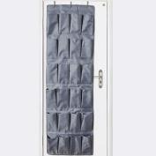 Hanging Over Door Shoe Organiser, Tune Up 24 Pocket Storage Tidy Rack Space Saver Toys