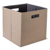 Threshold Fabric Storage Bin, Mocha, Compatable with 33cm . Cube Organisers