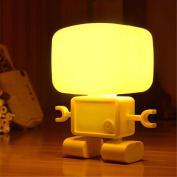 TINNZTES USB Portable Desk Lamp Sensor Baby Lamp Night Light Robert Desk Light Yellow