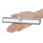 TINNZTES 10 LED Closet Wireless Motion Sensor Light Lighting, 3 Mode Switch, Stick On Anywhere Battery Operated Night Light Step Light Wall Light