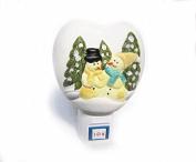 Poramo Christmas Tree and Santa Claus Ceramic NightLight Night Light Wall Lamp Children Home Decor 12cm Tall