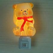 Poramo Cartoon Fat Bear Ceramic NightLight Night Light Wall Lamp for Child Kids 12cm Tall