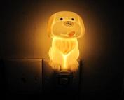Poramo Yellow Dog Shape Animal Ceramic NightLight Night Lamp Fragrance Oil Lamp for Child Kids 12cm Tall