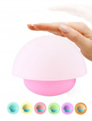 Anpress Tumbler Mushroom Design Colourful Night Light Touch Sensor Dimmable LED Nightlights with Softlight,Stronglight and 7 Colourful Light Best Gift for Baby Room, Bedroom, Nursery, Outdoor